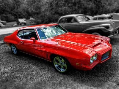 Photograph - Red '72 Pontiac Gto 002 by Lance Vaughn