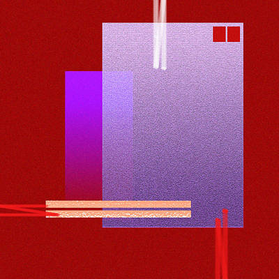 Red Abstract 2 Print by Anil Nene