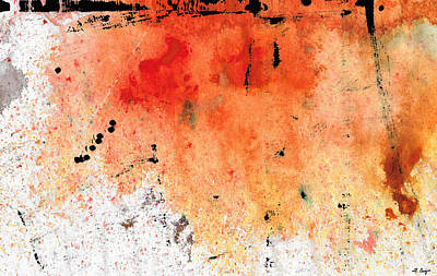 Drippy Painting - Red Abstract Art - Taking Chances - By Sharon Cummings by Sharon Cummings