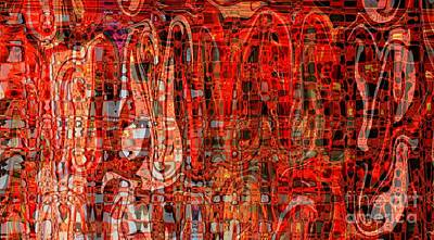 Red Abstract Photograph - Red Abstract Panel by Carol Groenen