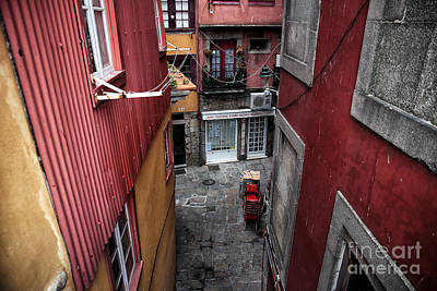 Photograph - Red Alley In Porto by John Rizzuto