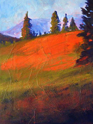 Loose Painting - Red Alpine by Nancy Merkle