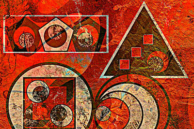 Ally Painting - Red And Black Abstract by Ally  White