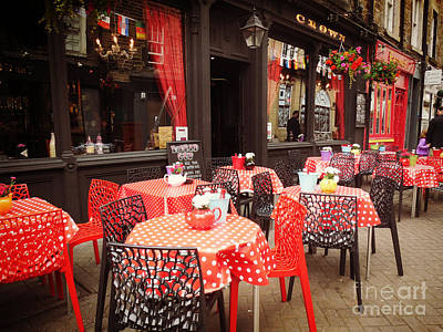 Photograph - Red And Black Cafe by Valerie Reeves