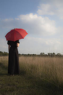 Ladies In Waiting Photograph - Red And Black by Maria Heyens