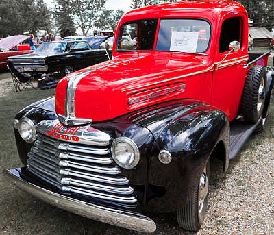 Art Print featuring the photograph Red And Black Mercury Pick Up by Mick Flynn