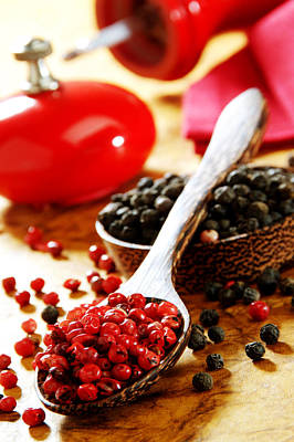Photograph - Red And Black Pepper by Selke Boris