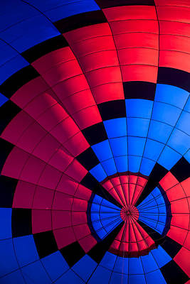 Red And Blue Pattern Art Print by Garry Gay