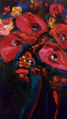 Painting - Red And Blue by Ray Khalife