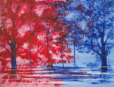 Painting - Red And Blue by Richard Fritz