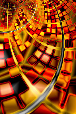 Colourful Digital Art - Red And Gold 2 by Hakon Soreide