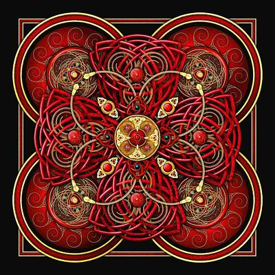 Photograph - Red And Gold Celtic Cross by Ricky Barnes