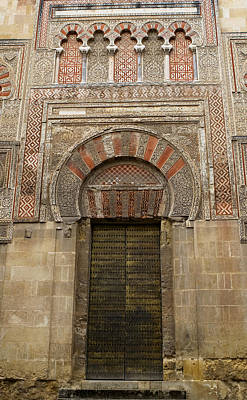 Photograph - Red And Gold Doorway Of The Mezquita by Lorraine Devon Wilke