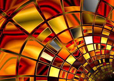 Red And Gold Art Print by Hakon Soreide