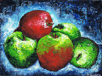 Painting - Red And Green Apples by Kamil Swiatek