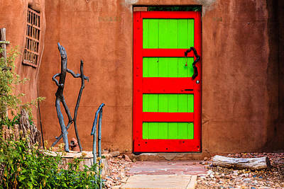 Photograph - Red And Green Door by Ben Graham