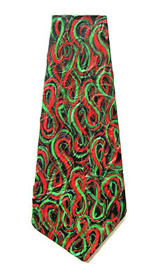Painting - Red And Green Figure-eight Necktie by Michael Morgan