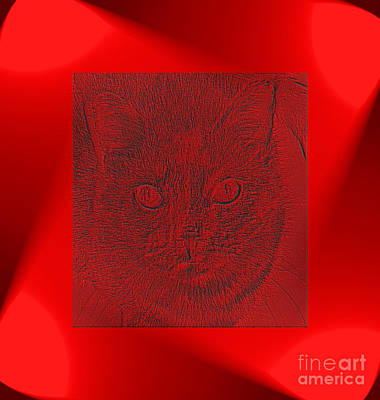 Digital Art - Red And Pretty by Oksana Semenchenko