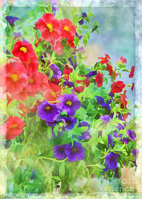 Red And Purple Calibrachoa - Digital Paint I Art Print