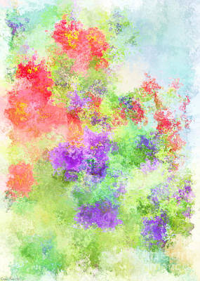 Photograph - Red And Purple  Calibrachoa Abstract Digital Paint I by Debbie Portwood