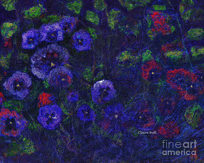 Photograph - Red And Purple Pansies by Claire Bull