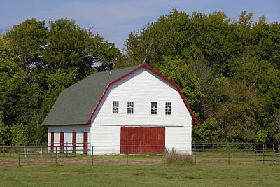 Photograph - Red And White Barn by Charles Beeler
