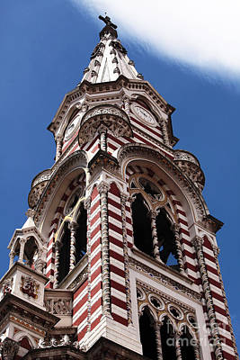 Photograph - Red And White Church In Bogota by John Rizzuto