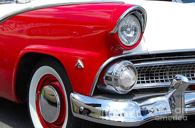 Photograph - Red And White Ford by Mark Spearman