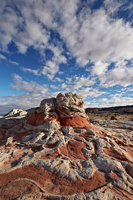 Sandstone Photograph - Red And White Sandstone Formations by James Hager / Robertharding