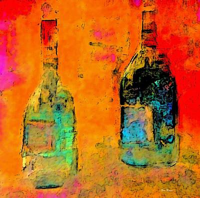 Art Print featuring the painting Red And White Wine by Lisa Kaiser