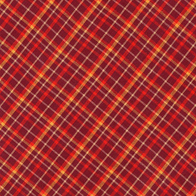 Plaid Photograph - Red And Yellow Diagonal Plaid Textile Design Background by Keith Webber Jr