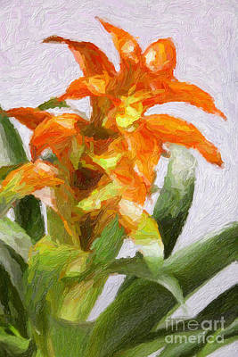 Painting - Red And Yellow Flowers Painting In Color 3181.02 by M K Miller