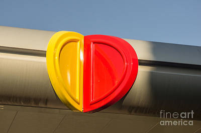 Photograph - Red And Yellow Heart Shaped Sign by Imagery by Charly