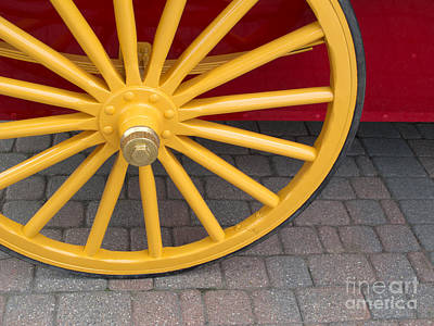 Transportation Royalty-Free and Rights-Managed Images - Red and Yellow Plain and Simple by Ann Horn