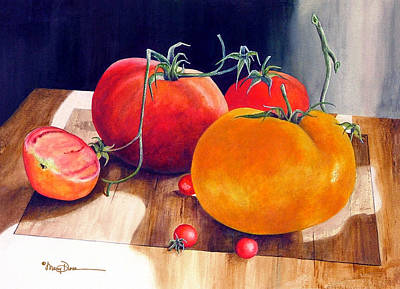 Painting - Red And Yellow Tomatoes by Mary Dove