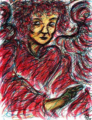 Drawing - Red Angel by Rachel Scott
