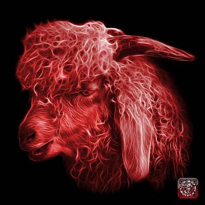 Digital Art - Red Angora Goat - 0073 F by James Ahn