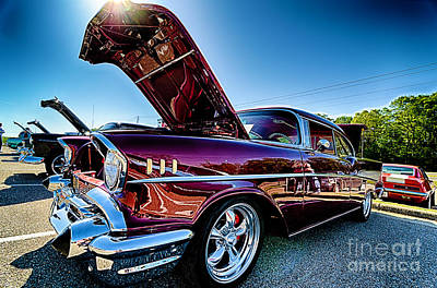 Photograph - Red Antique Chevy Car by Danny Hooks