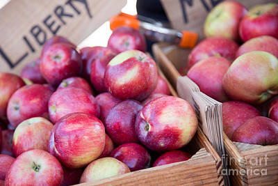 Photograph - Red Apples In Box by Rebecca Cozart