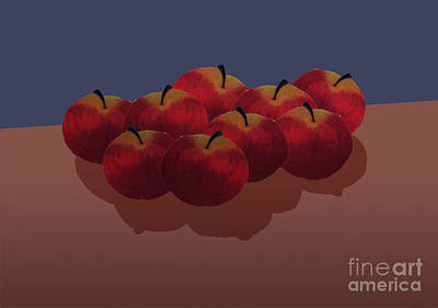 Painting - Red Apples by Isusko Goldaraz