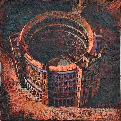 Art Print featuring the painting Red Arena by Mark Howard Jones