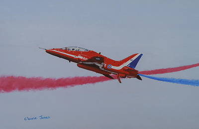 Red Arrow - One Of A Pair Art Print by Elaine Jones