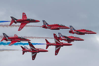 Photograph - Red Arrows At Fowey by Ken Brannen