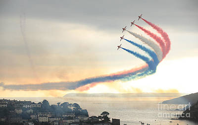 Photograph - Red Arrows At Fowey by Paul Felix