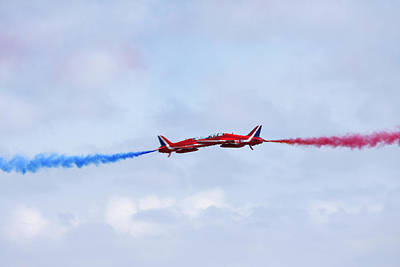 Photograph - Red Arrows Close Pass by Steve Ball
