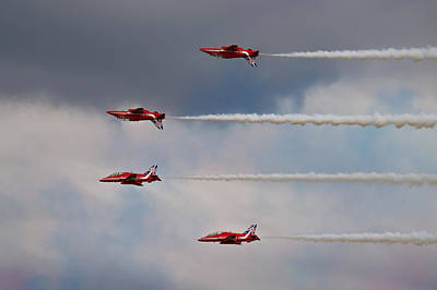Photograph - Red Arrows - Mirror Image by Scott Lyons