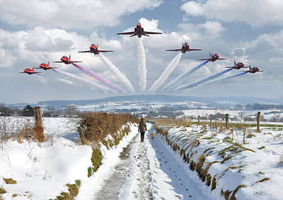 Photograph - Red Arrows Over Epen by Nop Briex