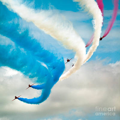 Photograph - Red Arrows by Rastislav Margus