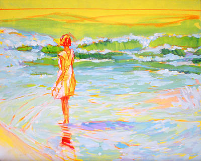 Fauvist Painting - Red At Hapuna by Richard Rochkovsky