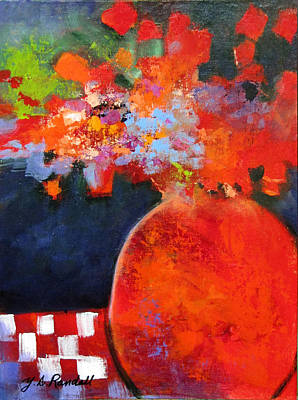 Red At Night Art Print by Donna Randall